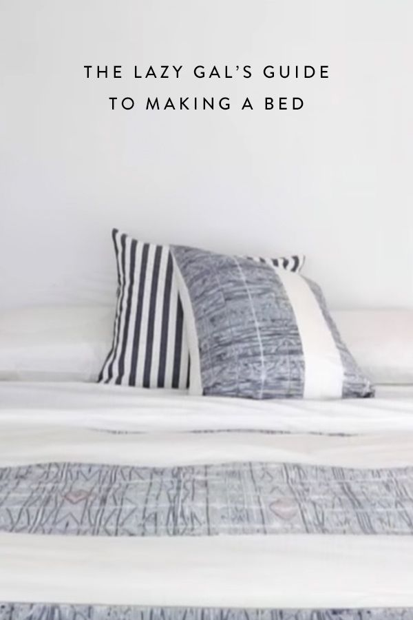 How to make your bed while you're still in it. Try this genius hack to make mornings a little easier.