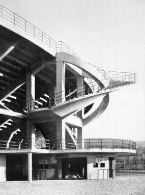 "Stadio Artemio Franchi : Stadio Comunale ""Artemio Franchi"", Florence Italy (1930-1932)   Alessandro Giuntoli and Pier Luigi Nervi"