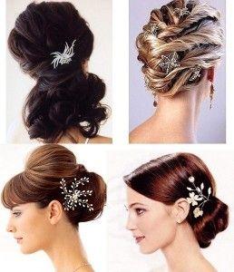 Peinados recogidos con chignon con accesorio de piedras - Los SI y NO sobre recogidos y peinados de novia con velo #bridal
