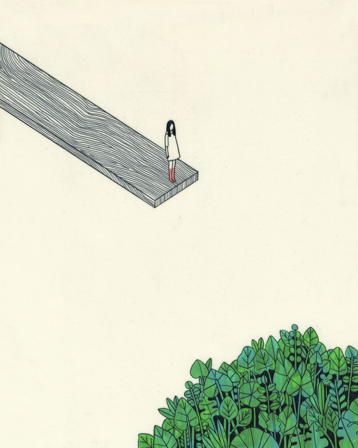 Figure on a plank by Rose Wong