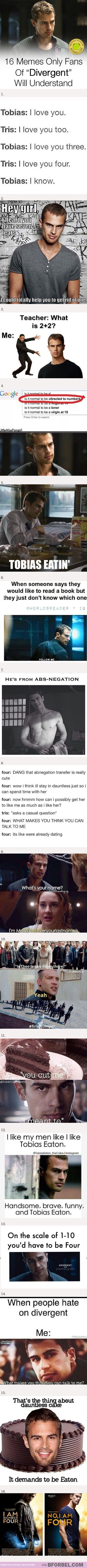 Some of these… <<I don't understand the big whop about Tobias Eaton or Fourtris.
