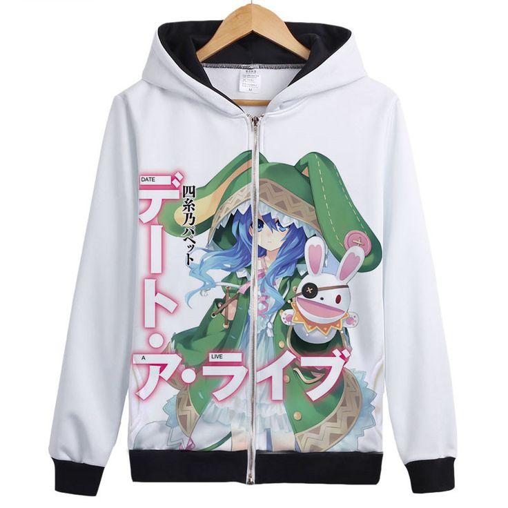 Kurumi Tokisaki Hoodies Anime DATE A LIVE 3D Print 2016 New Thin Fleece Hooded Hoody Anime Hoodies Free Shipping
