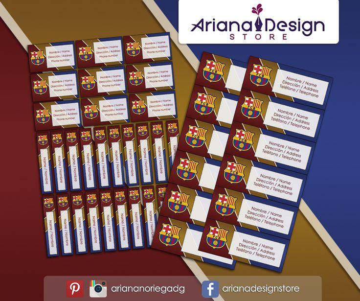 #etiquetas #etiquetasescolares #barcelonafc #barcelonafutbol #futbol #barcelona #footballteam #stickers #school #nametags #label