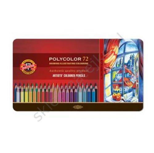 kredki polycolor opakowanie metalowe, 72 szt. | Kor-I-Noor