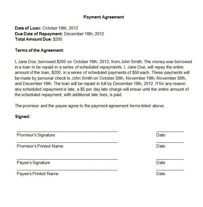 Die  Besten Payment Agreement Ideen Auf
