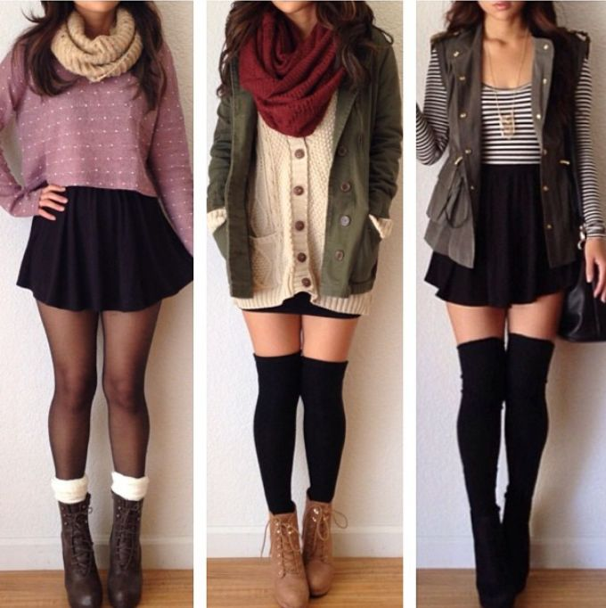 Cold-weather skirts
