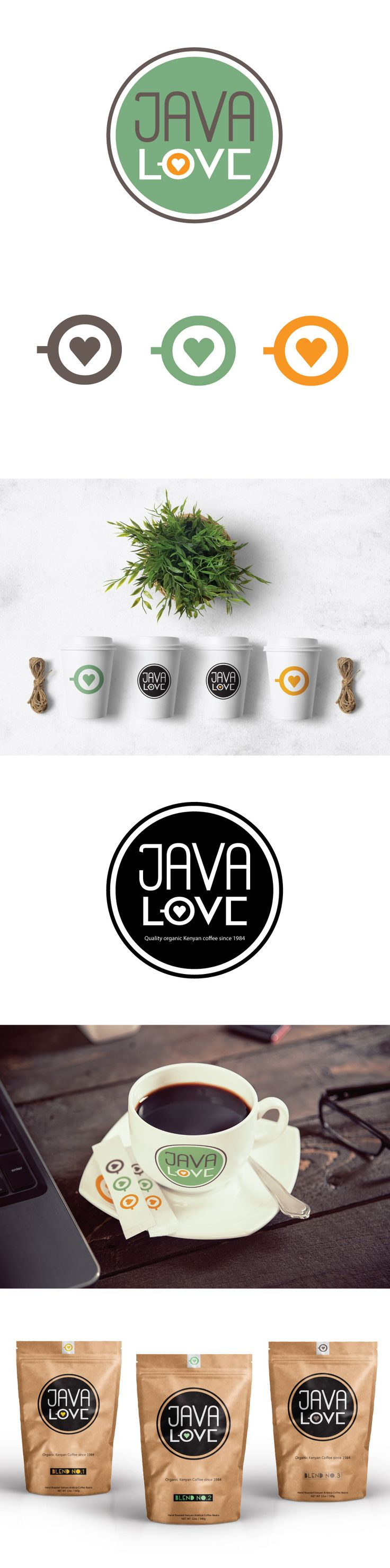 Java Love Identity & Packaging Concept. www.leahcussencreative.com #lccreative #coffee #graphicdesign #packagingdesign