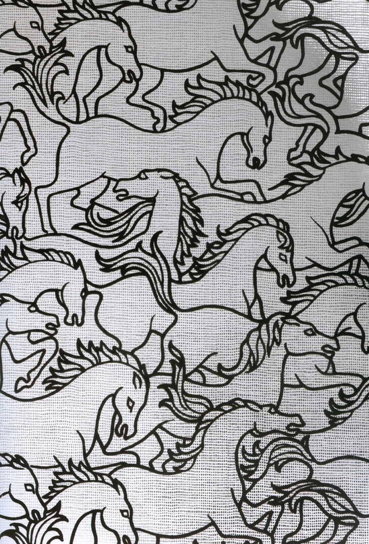 stampede of horses coloring pages - photo#20