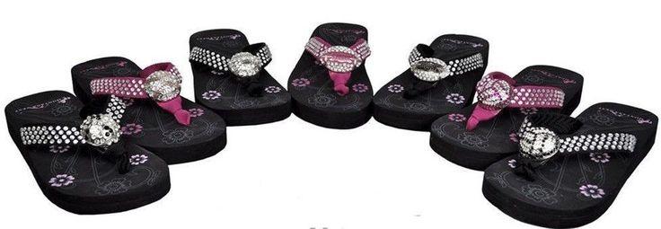 Montana West Size 6, 7, SPORTS Jeweled Bling Flip Flop/Sandals Rhinestone NWT #MontanaWest #FlipFlops