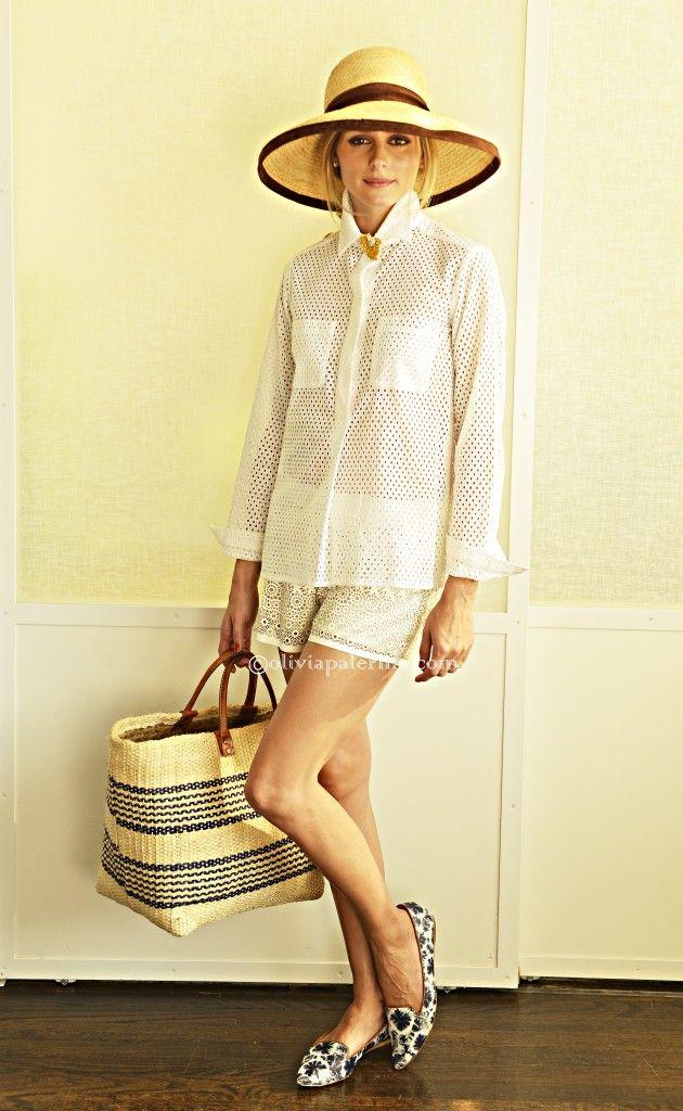 TOUCH this image: Carolina HerreraClassic Cotton Blouse, Tamara MellonGui... by Olivia Palermo
