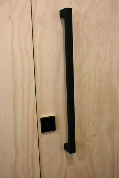 Lovely Matte Black Entry Pull Set   630 Long   The Lock And Handle