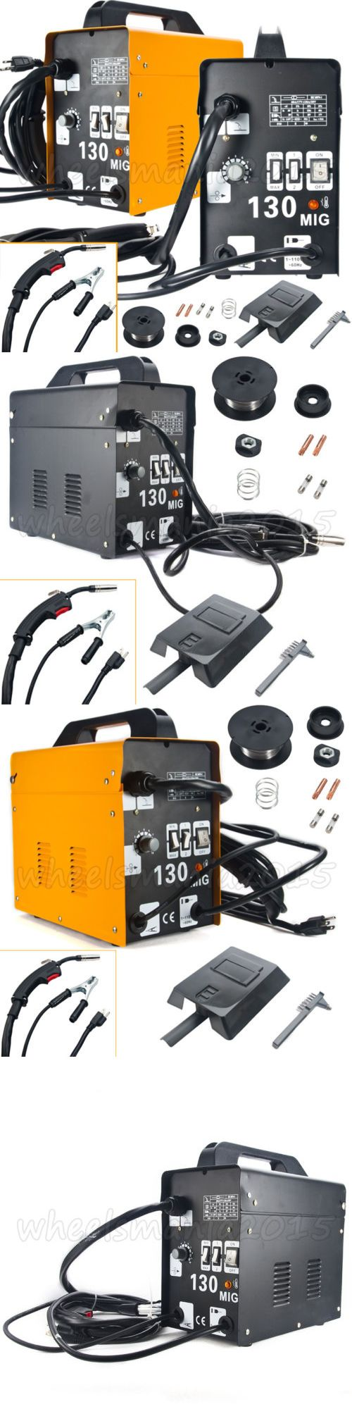 Welding and Soldering Tools 46413: Gas Less Mig Welder Auto Flux Core Wire Feed Welding Machine Diy Mig130 W Mask -> BUY IT NOW ONLY: $88.59 on eBay!
