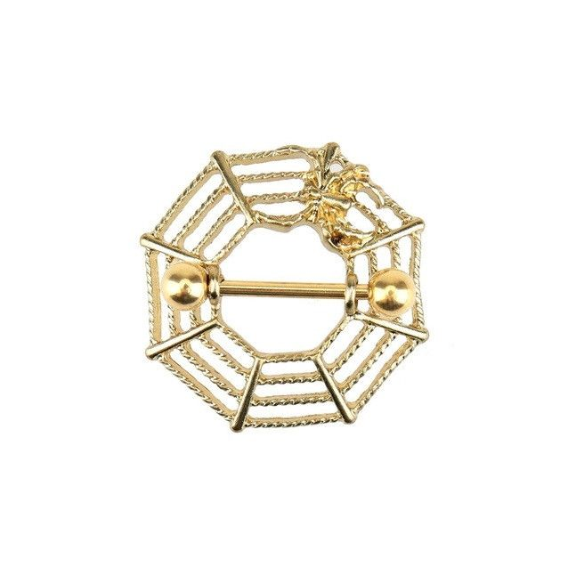Buy 1 GET 1 FREE Luxury Gold / Sliver Spiderweb Sexy Stainless Steel Nipple Rings   #WashingtonDC #bodypiercingshop #picoftheday #instagood #AlexandriaVa #followme #HowardUniversity #Charlescounty #sale #love