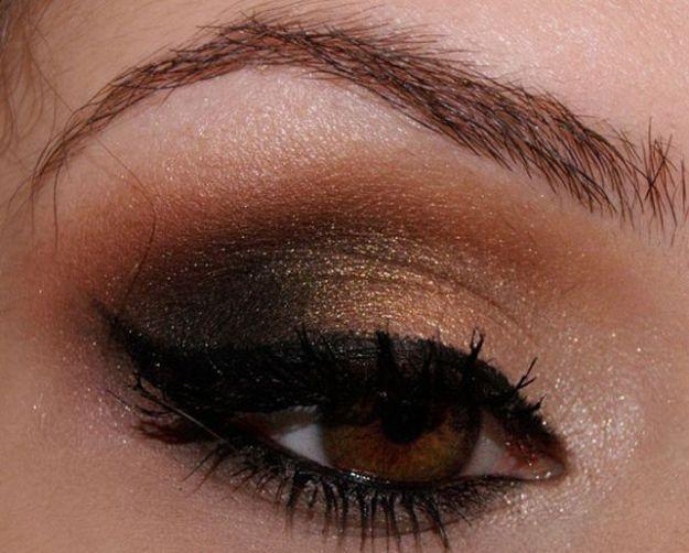 Макияж Смоки Айс с коричневыми тенями ::: onelady.ru ::: #makeup #eyes #eyemakeup