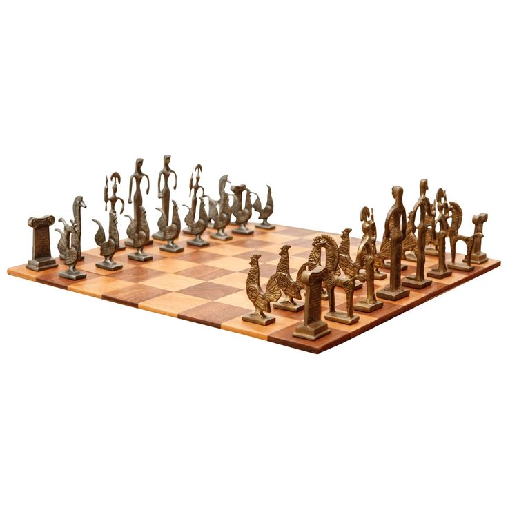 Vintage Greek Chess Pieces Unique Modern And Game