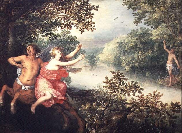 David Vinckenboons. Hercules, Deianeira and the Centaur Nessus (1612, Kunsthistorisches Museum Databank, Vienna)