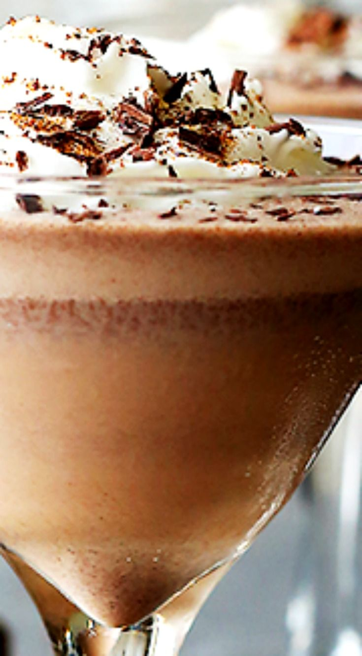Frozen Chocolate Brandy Alexander ~ Our favorite Holiday cocktail made with Dark Chocolate Brandy, coffee, and ice cream.