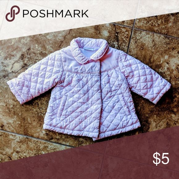 Pink Baby Girl Peacoat/Puffer 6-9 month girls pink coat by First Impressions. Very light pale pink color. Quilted design make this little coat soft, fluffy and warm. First Impressions Jackets & Coats Puffers