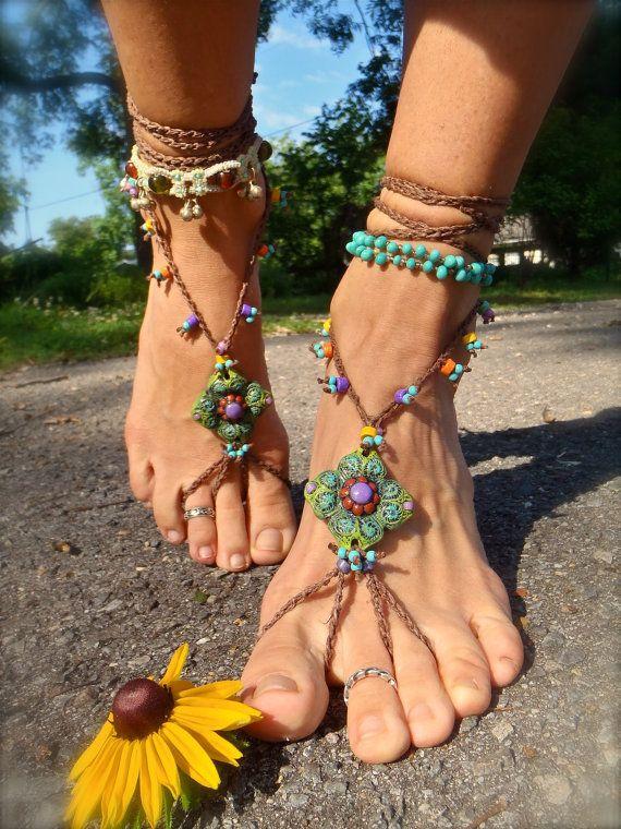 218 best boho barefoot sandals images on Pinterest Anklets Feet