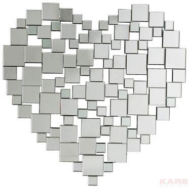 Mirror Heart 95x95cm