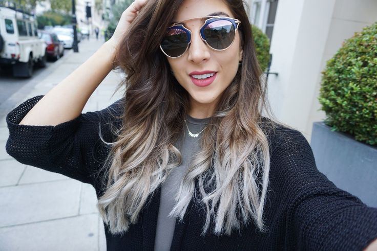 MY NEW HAIR!!! Brown to Grey Silver Dip Dye | Amelia Liana