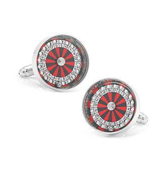 Cufflinks Inc. Men's Roulette Wheel Cufflinks