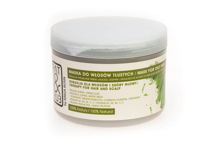 Maska do włosów tłustych PAT & RUB reguluje pracę gruczołów łojowych skóry i wydzielanie sebum, zapobiega przetłuszczaniu się włosów, łagodzi podrażnienia skóry głowy, oczyszcza.
