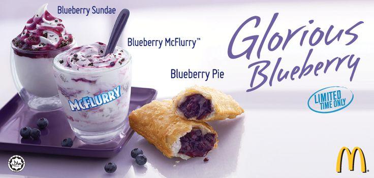 Blueberry sundae applepie mcflurry mcdonalds tastes