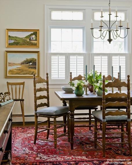 Linda Merrill Portfolio Duxbury Casual Dining Room 4 Interior Design  Massachusetts,