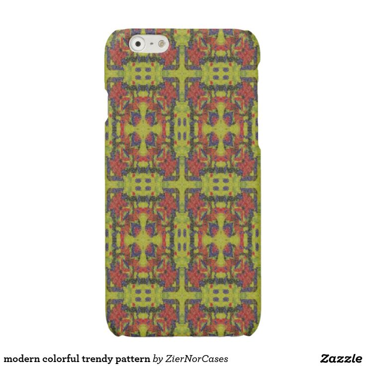 modern colorful trendy pattern glossy iPhone 6 case