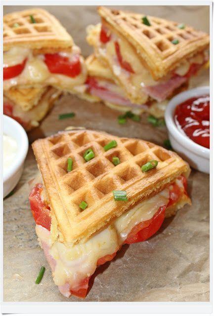 Receita maravilhosa de Waffles salgados - O melhor restaurante do mundo é a nossa Casa