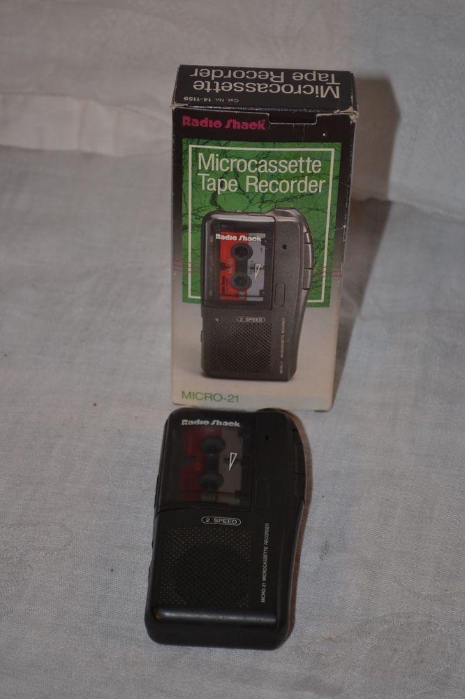 Radio Shack Micro-21 Microcassette 2-Speed Tape Recorder With 60 Minute Tape #RadioShack