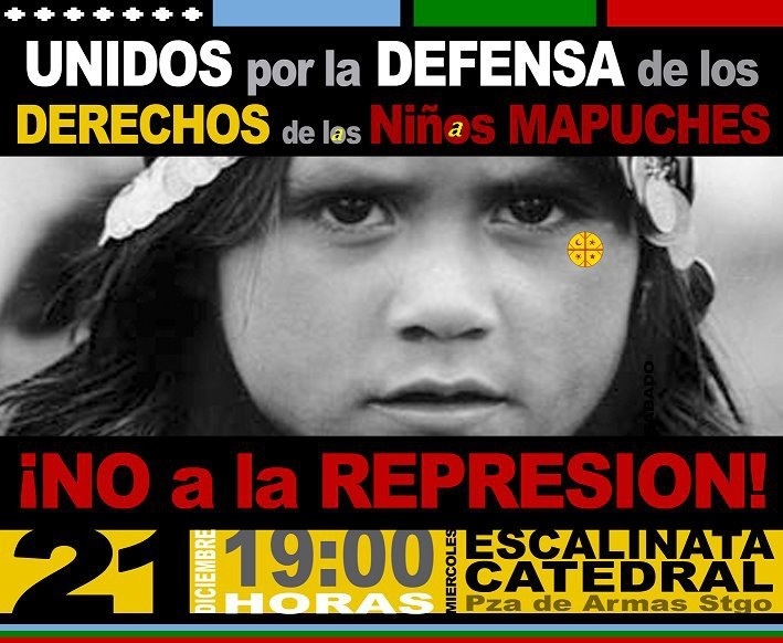a los niños mapuches. Chile