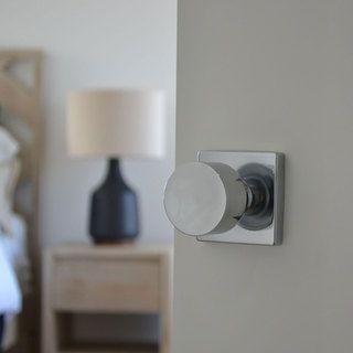 Sure-Loc Bergen Stainless Steel Square Door Knob | Overstock.com Shopping - The Best Deals on Door Hardware