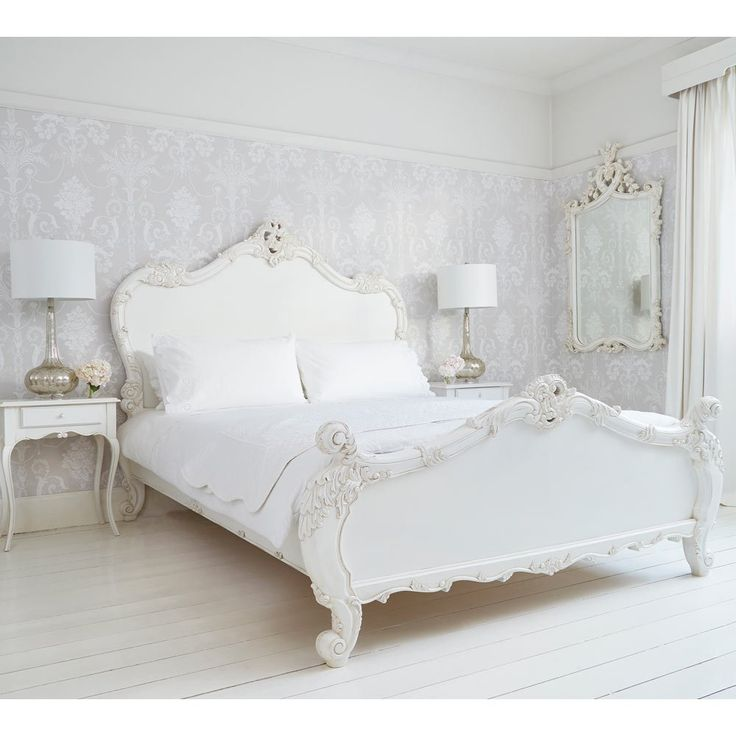Provencal Heart Top White Mirror. Best 25  French bed ideas on Pinterest   French bedrooms  French