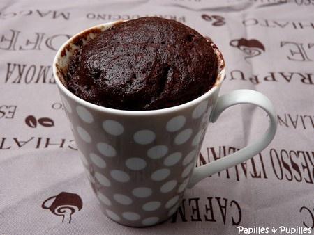 gâteau au chocolat au micro ondes!