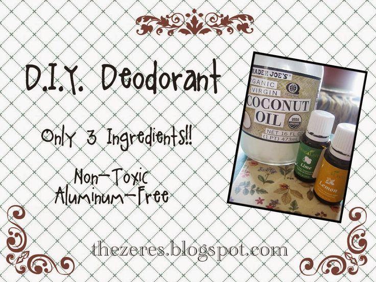 The Zeres: DIY: Deodorant