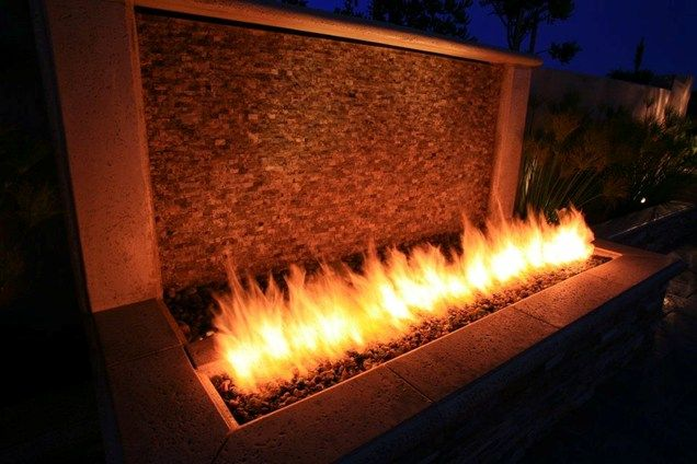 Very cool!!! Fire And Water Wall Fire Pit Lisa Cox Landscape Design Solvang, CA