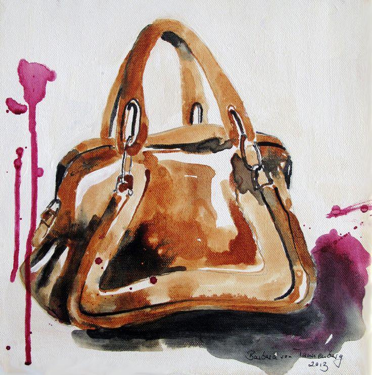 #barbaravontannenberg #newdivision #illustration #watercolour #gouache #textured #fashion #handbag #product