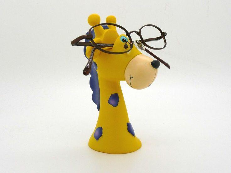 giraffe jungle glasses holder desktop stand eyeglass