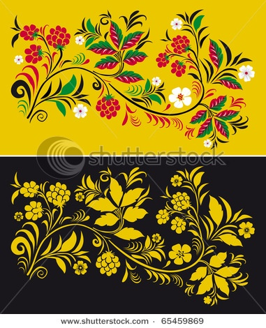 Russian style ornaments by Sarycheva Olesia