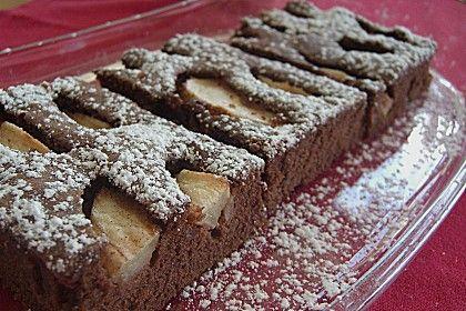 Schoko - Apfel - Kuchen vom Blech 1