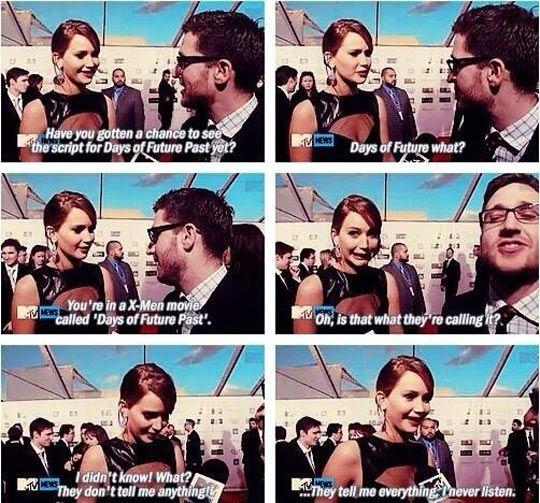Jennifer Lawrence On X-Men