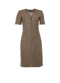 ARMA Avi Caprito lamsleren jurk met ritsdetail