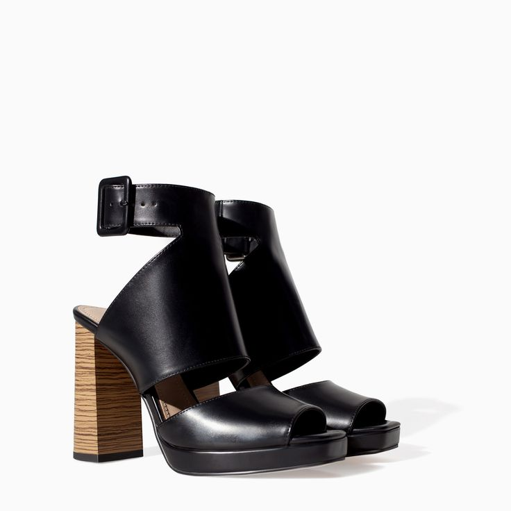 HIGH HEEL ANKLE BOOT SANDAL WITH OPEN TOE - Shoes - TRF - SALE | ZARA Canada Ref. 3623/301 79.90 CAD UPPER 100% POLYURETHANE LINING 100% POLYURETHANE SOLE 100% VULCANIZED RUBBER