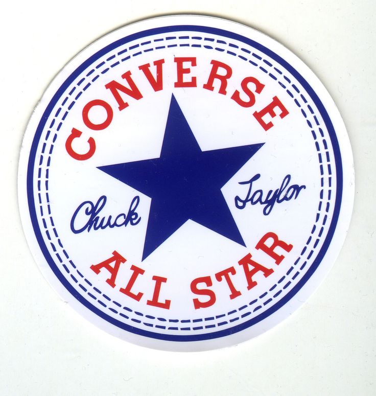 #1742 Converse All Star Shoes Logo, 7.4 cm decal sticker ...