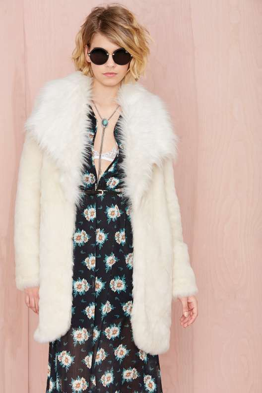 Nasty Gal Tina Faux Fur Coat - The Temp Drop Shop