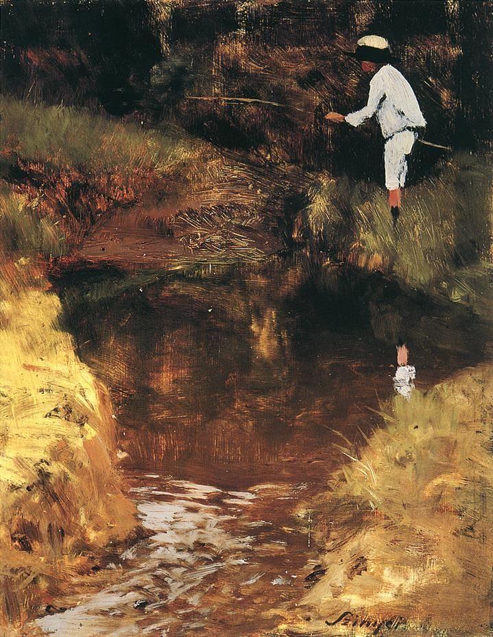 Félix Angling by Pál Szinyei Merse