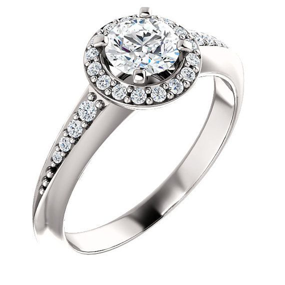 De Beers Caress Ring Moissanite