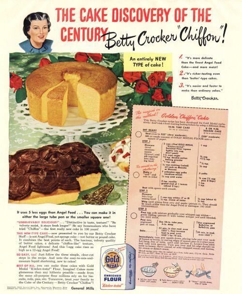 Betty Crocker Old Cookbook Cake Recipes
